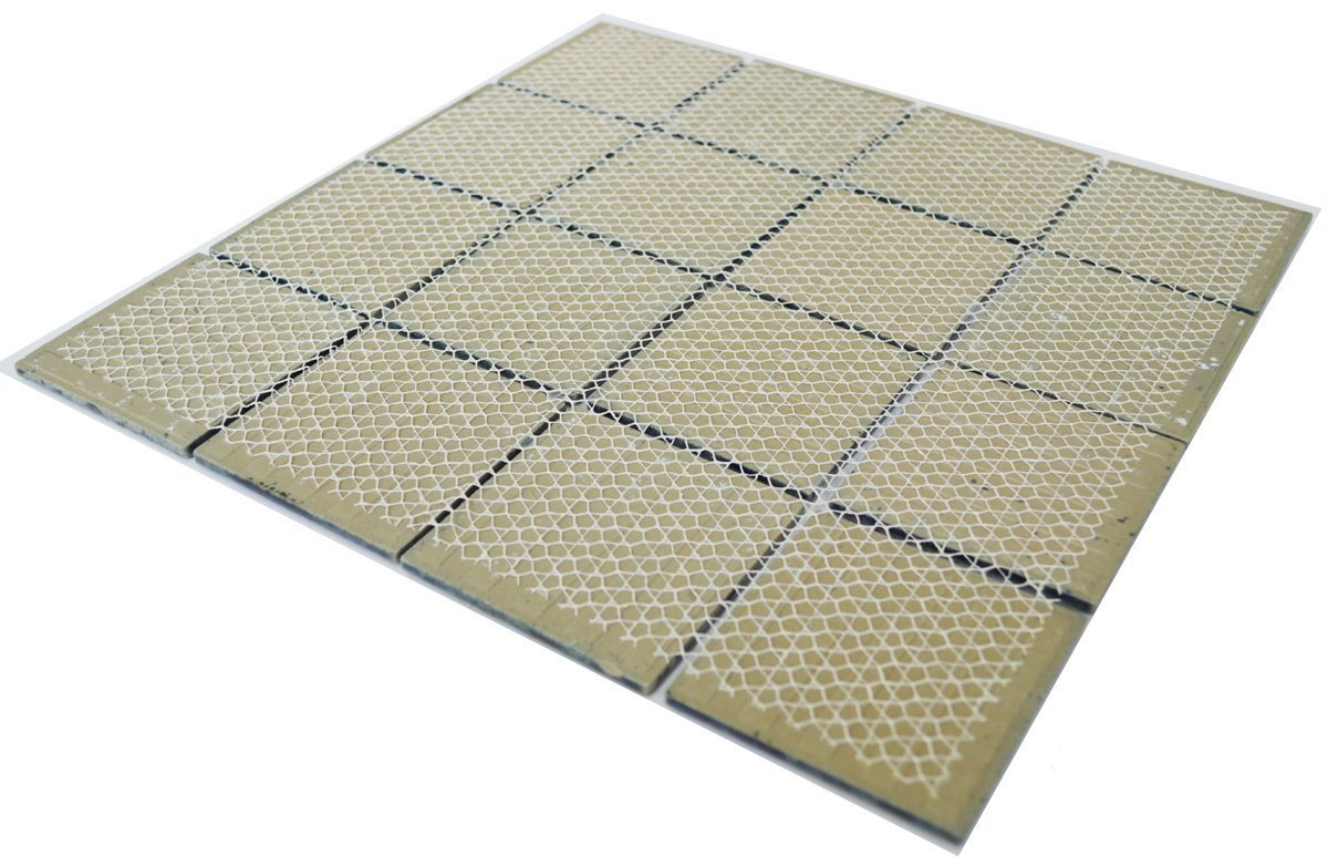 Designed in Italy Vogue Premium Quality 3 x 3 Calacatta Blue Square Pattern Porcelain Mosaic Tile on Mesh on 12x12 sheet 1