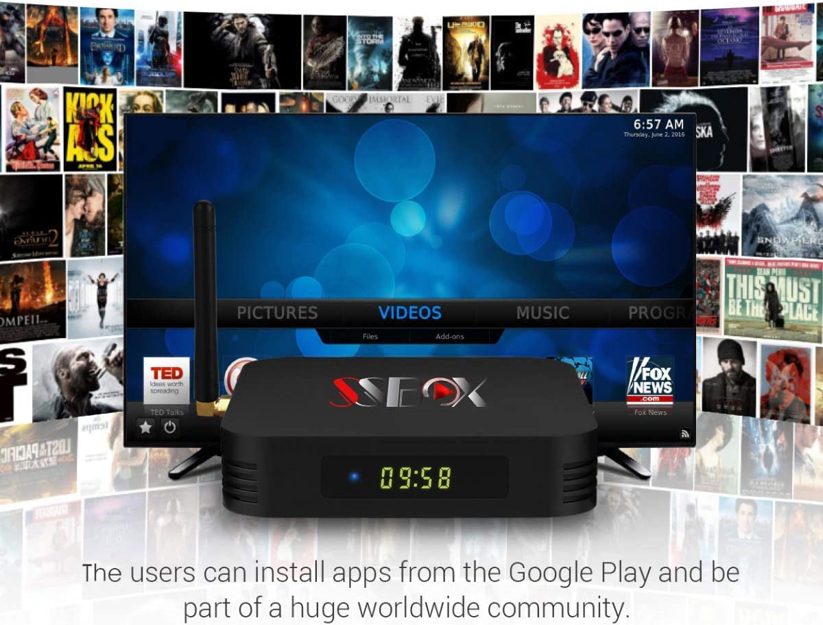 SS Box HD Arabic IPTV Box Free for Life time 8400+ Channels