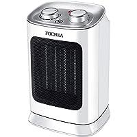 Termoventilatore 1800W FOCHEA Stufa Elettrica Oscillante con Tecnologia Ceramica a Basso Consumo Energetico, Silenzioso, 3 Livelli di Temperatura, Termostato Ambiente, Potente e Compatto