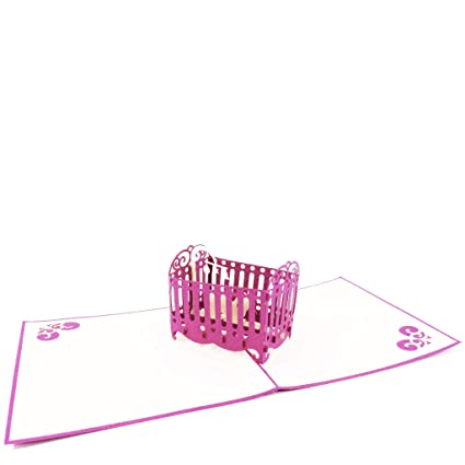 Tarjeta de felicitación para recién nacido, diseño de niña ...