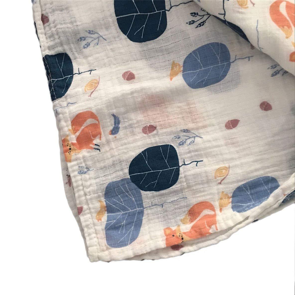 Noradtjcca 120x120cm Mussola Bambino fasciatoio Bambino fasciatoio Cotone 100/% Neonato Asciugamano da Bagno Swaddle Coperte Multi Disegni funzioni