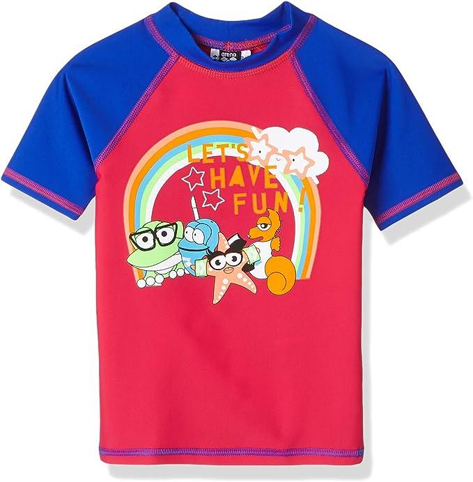 ARENA Awt UV - Camiseta para niña con protección Solar, Niñas, 002053, Freak Rose-Neon Blue, 92: Amazon.es: Deportes y aire libre
