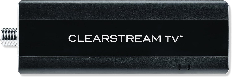 ClearStream TV Over-The-Air adaptador de sintonizador WiFi, se conecta a cualquier antena de TV, utiliza la aplicación gratuita para grabar y pausar TV en directo, ver grabaciones en movimiento, incluye una guía