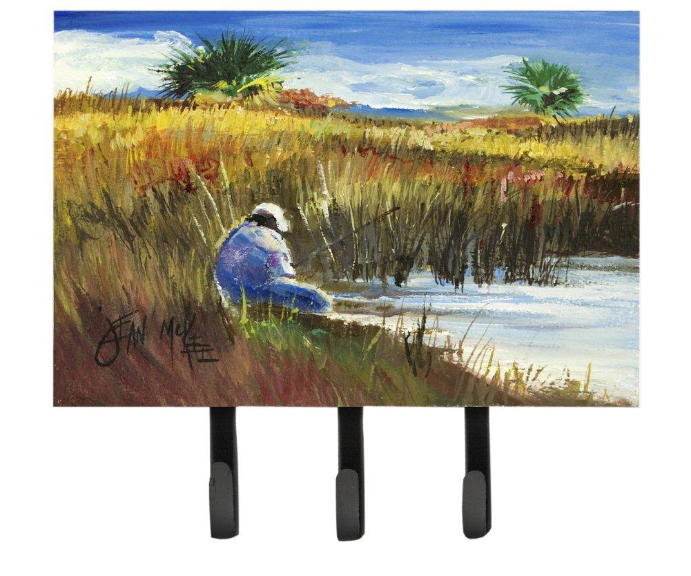 Caroline's Treasures JMK1125TH68 Fisherman on The Bank Leash or Key Holder, Large, Multicolor