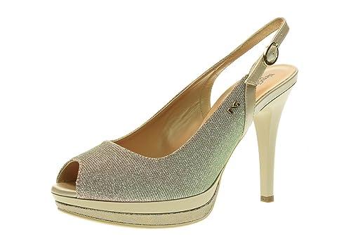 NERO GIARDINI scarpe donna decolletè spuntato aperto P717412DE/700 taglia  35 Sabbia