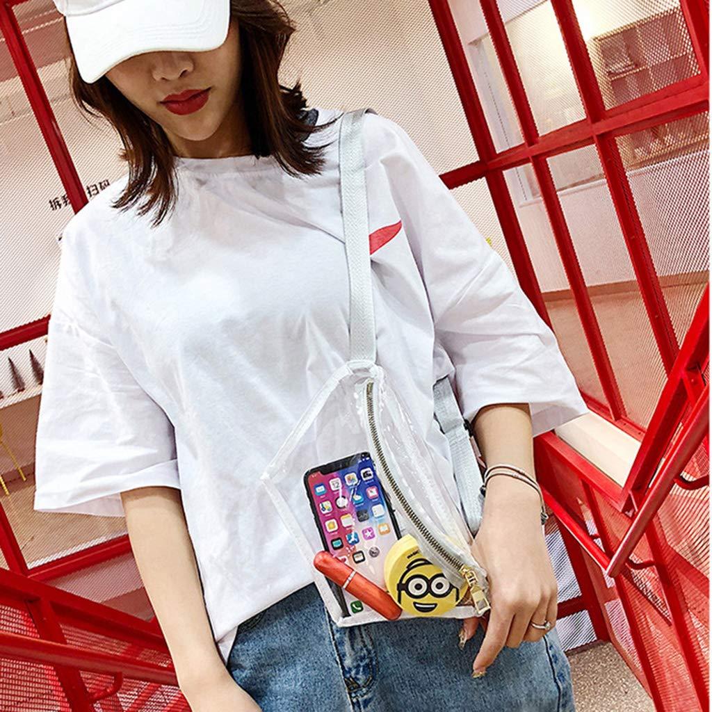 Bolso bandolera impermeable para mujer de PVC transparente blanco Youlin