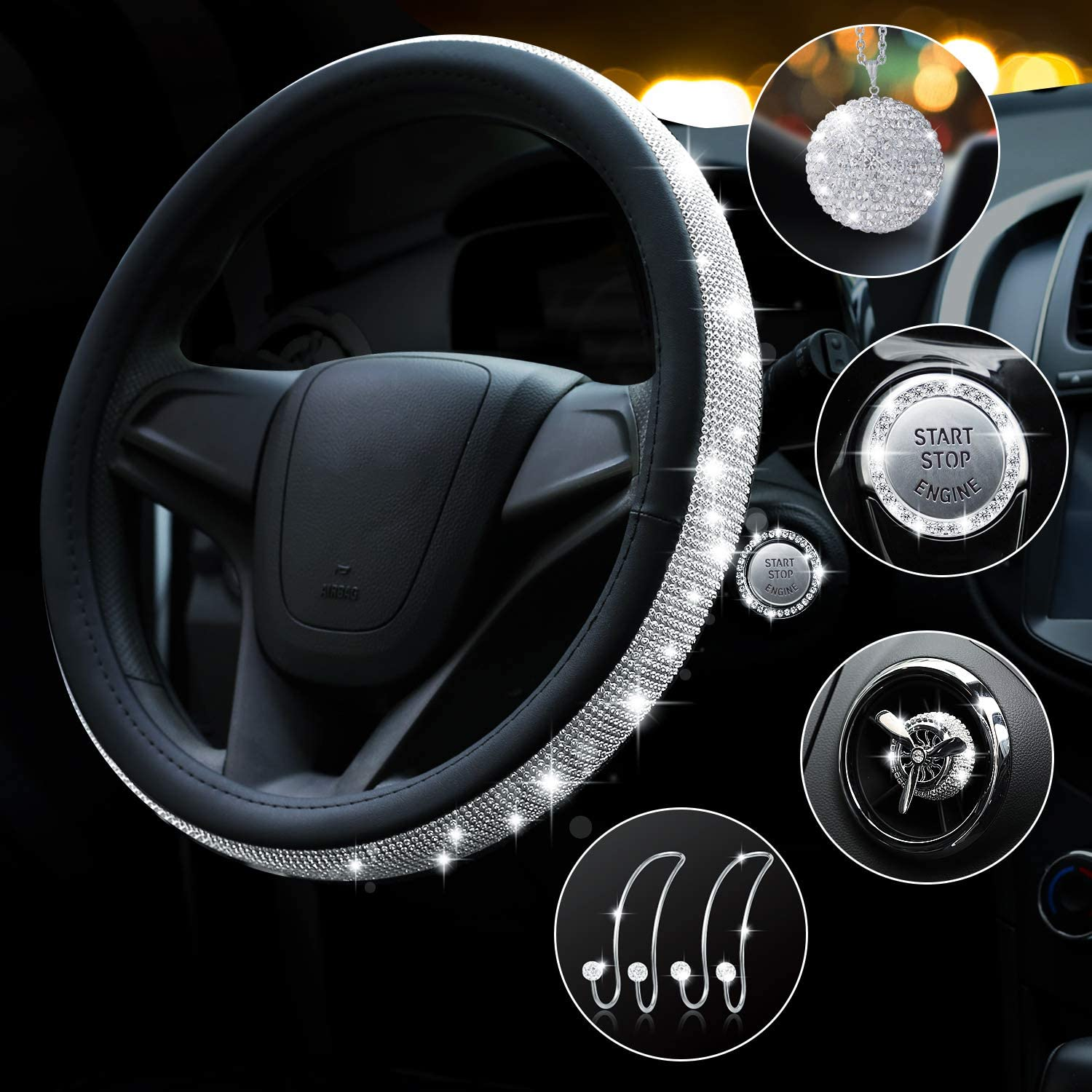 Bling Rhinestone Steering Wheel Cover In Topics on TV Universal 15 Women Ranking integrated 1st place for