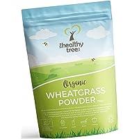 Herbe de blé d'Allemagne BIO en poudre - Riche en protéines, fibres, calcium et chlorophylle - Parfaite pour les jus de superfoods verts - Poudre d'herbe de blé par TheHealthyTree Company