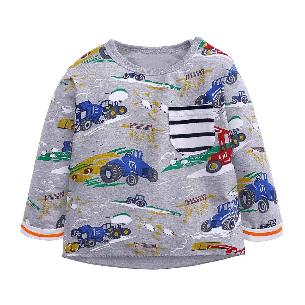 Covermason Säugling Kleinkind Baby Jungen Mädchen Karikatur Tops T-Shirt Bluse Kleider