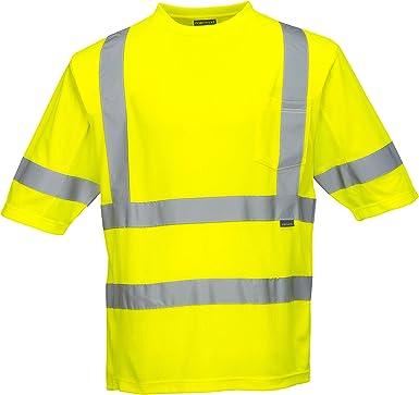 Portwest Augusta Sleeved Hi-Vis Vest Visibility Reflective Safety Security Work Top ANSI 3