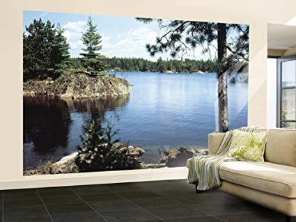 Lake in the Woods Huge Wall Mural Art Print Poster 99x164 Amazon