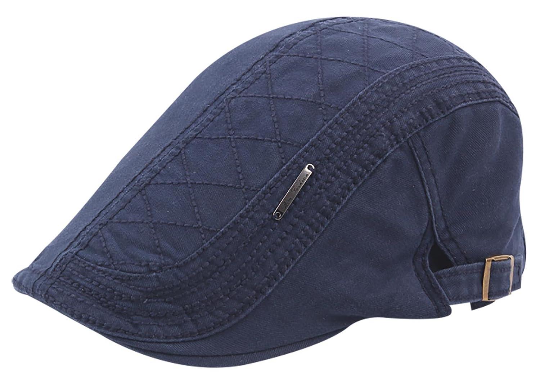 Panegy New Men's Cotton Adjustable Ivy Gatsby Newsboy Hunting Flat Hat SPG40656