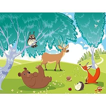 Fototapete Kinderzimmer Zoo Vlies Wand Tapete Dekoration Wandbilder XXL Moderne Wanddeko Elefant L/öwe Affe Runa Tapeten 9041010a 100/% MADE IN GERMANY