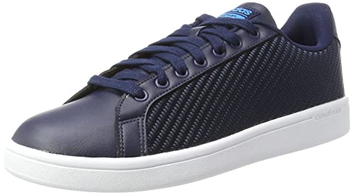 100% authentic e9b70 f72bc adidas neo Mens Cf Advantage Cl ConavyConavySolblu Leather Sneakers - 10  UK