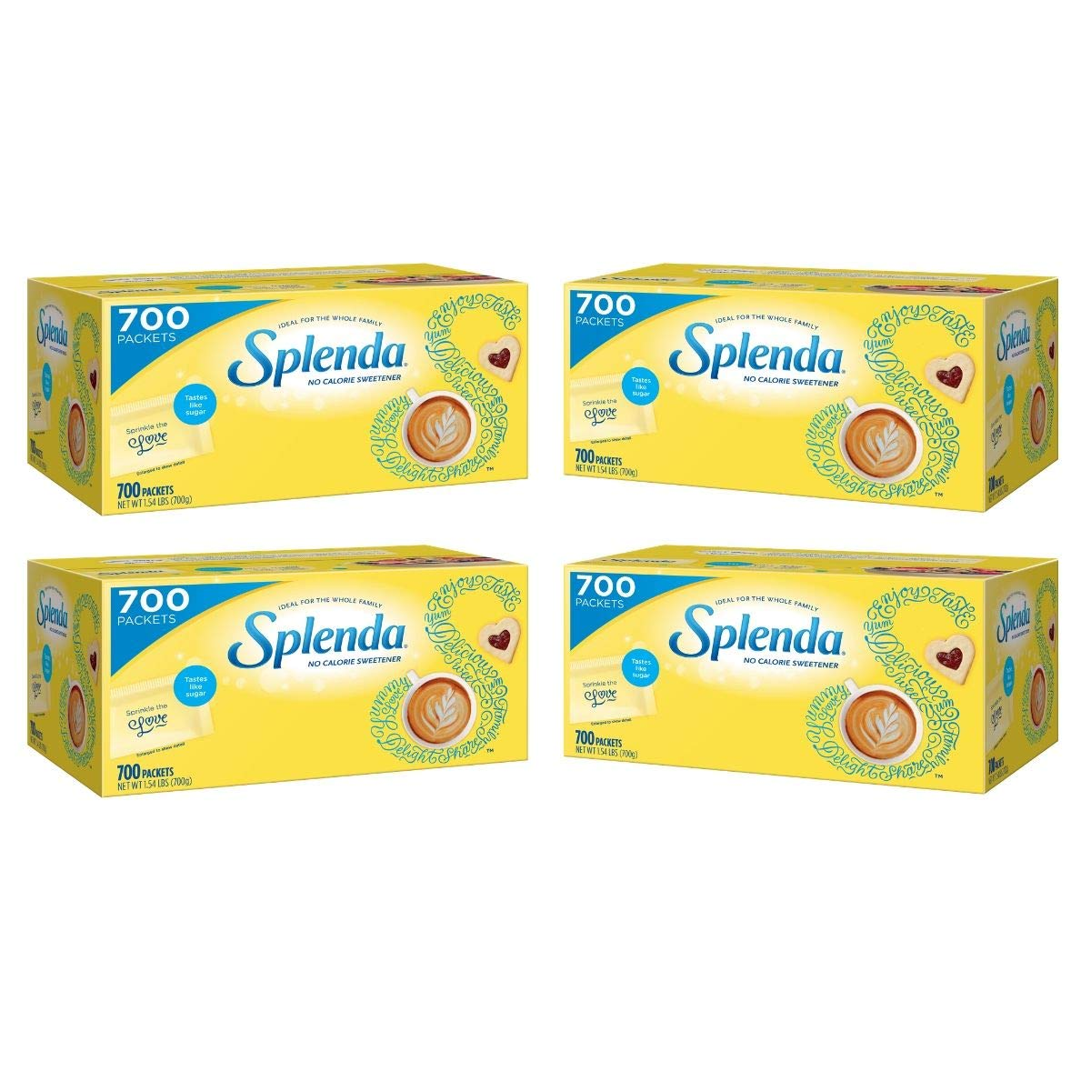 (700 Packets) Splenda No Calorie Sweetener Packets (Pack of 4)