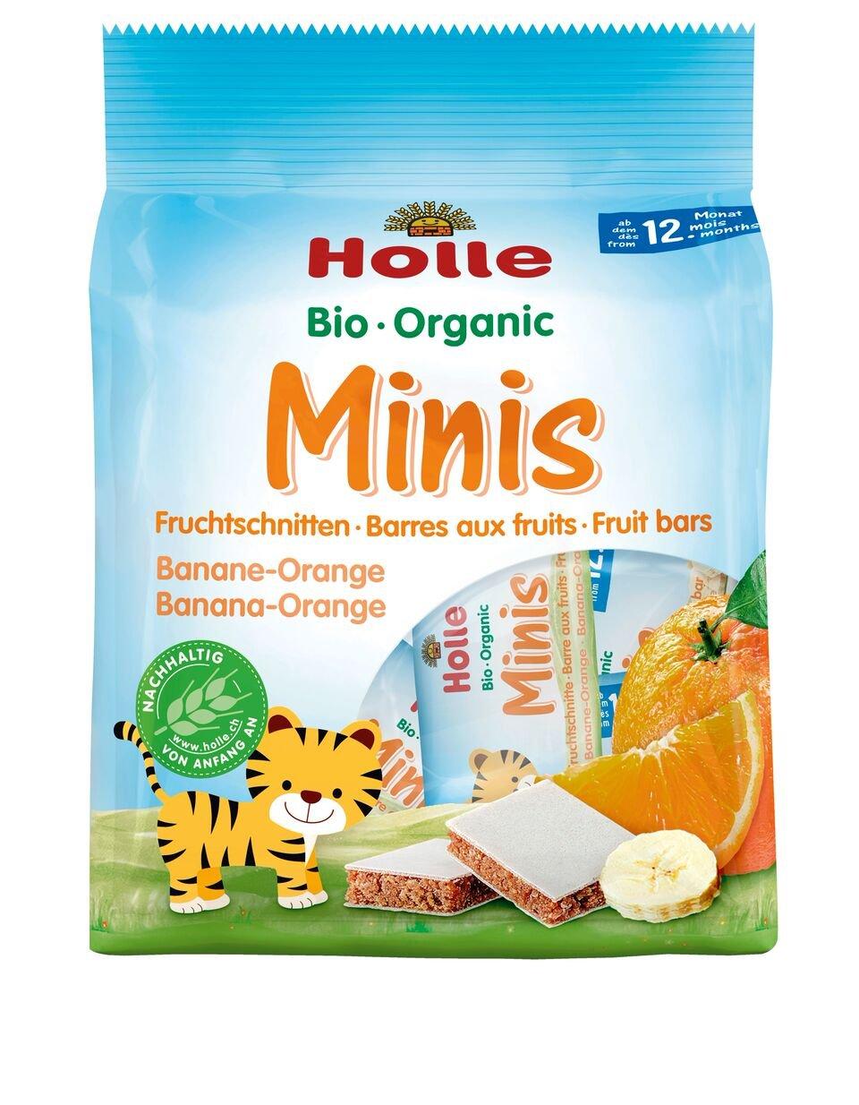Holle Barritas Mini Plátano & Naranja - Paquete de 10 x 100 gr - Total: 1000 gr: Amazon.es: Alimentación y bebidas