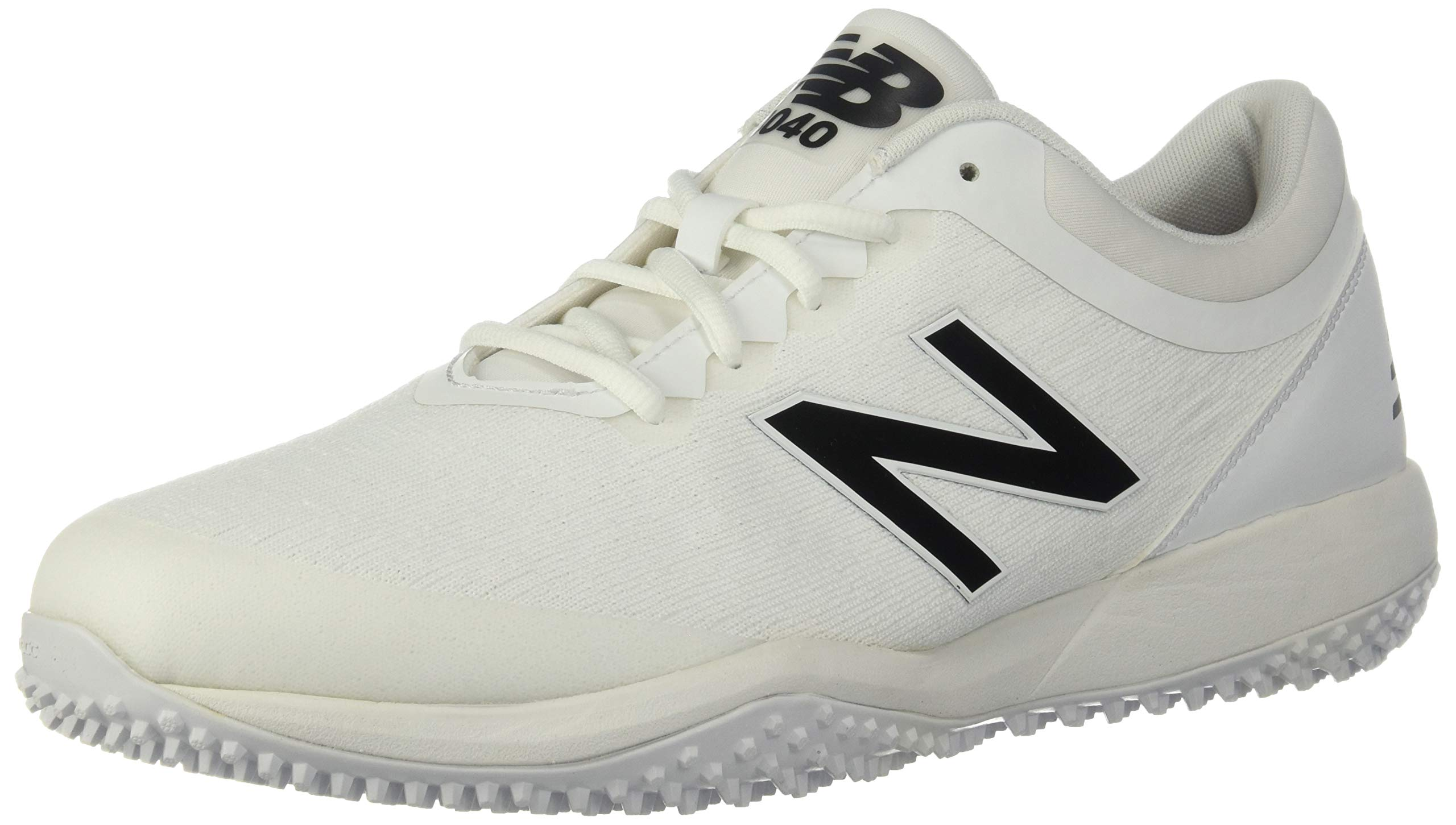 New Balance Men's 4040v5 Turf Running Shoe, All White, 5 D US