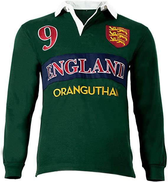 Oranguthan England Camiseta Polo Rugby Inglaterra Hombre Manga ...
