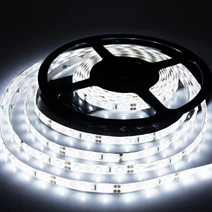 Amazon led strip lights cool white 6000k led light strips led strip lights cool white 6000k led light strips dc12v strip of led lights smd2835 300leds aloadofball Image collections