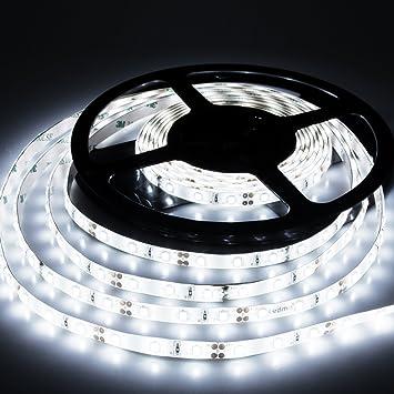 Amazon led strip lights cool white 6000k led light strips led strip lights cool white 6000k led light strips dc12v strip of led lights smd2835 300leds mozeypictures Images