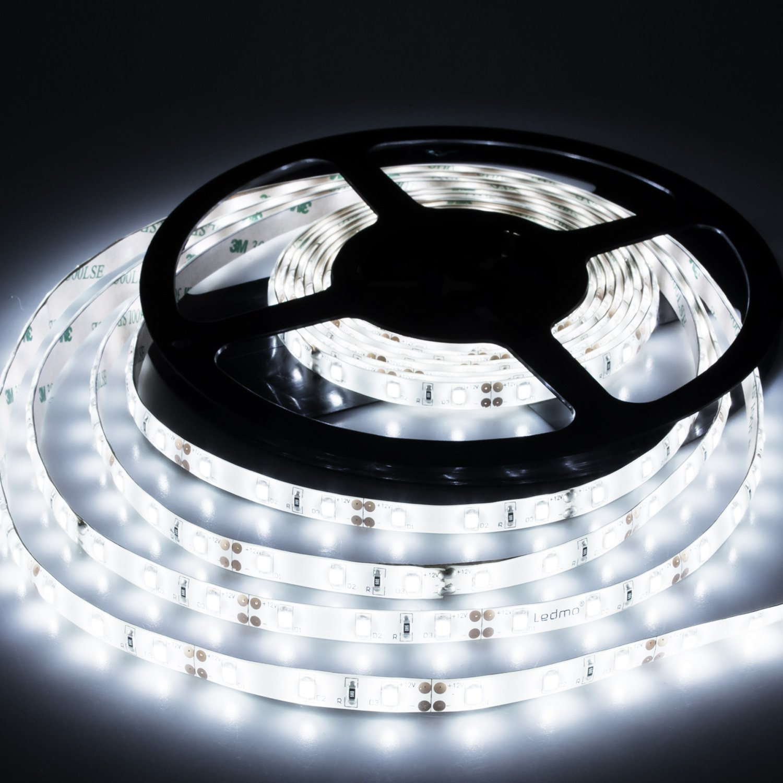LED Strip Lights Cool White 6000K Led Light Strips DC12V Strip of Led Lights SMD2835 300Leds Led Tape Lights Strip Led 16.4 Ft Flexible light strips DIY Decoration Outdoor