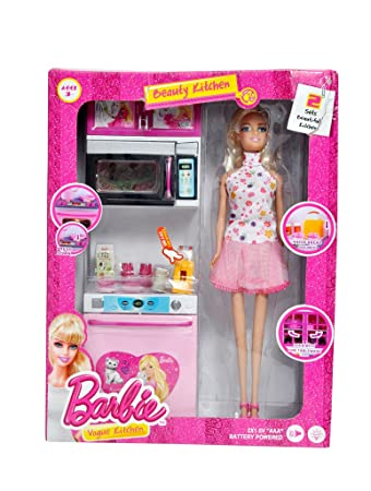 Buy Dream Deals Barbie Kitchen Set With Doll Online At Low Prices