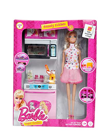 Buy Dream Deals Barbie Kitchen Set With Doll Online At Low Prices In