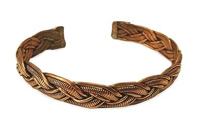 Schmuck Armreif aus Kupfer Metall geflochten, Metall Armband ...