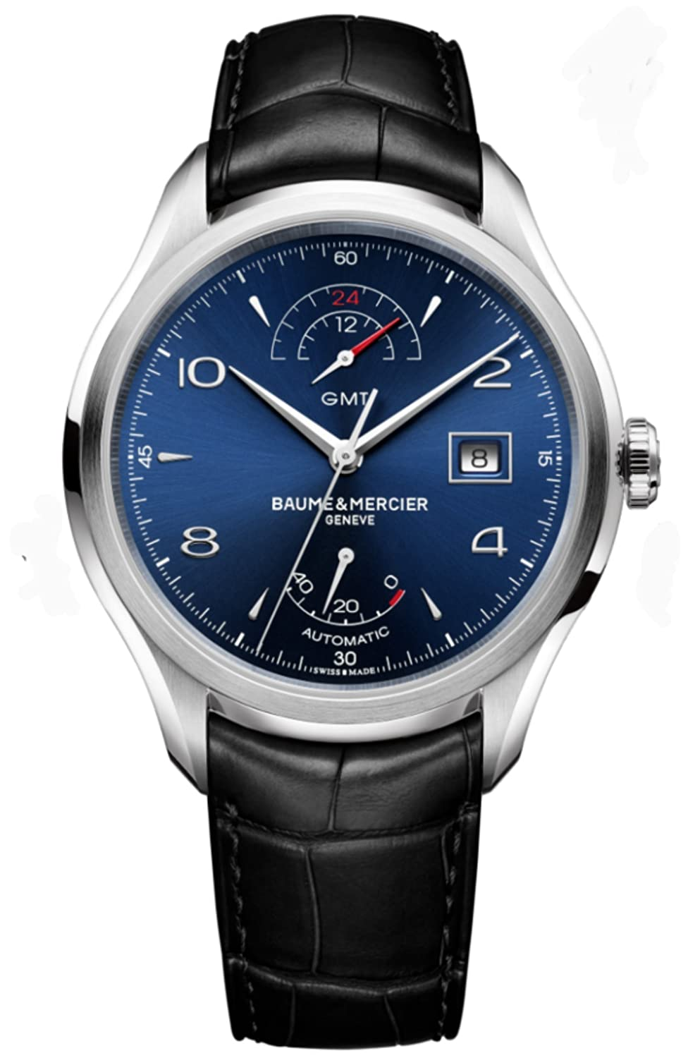 Mens Baume & Mercier Clifton Power Reserve GMT Watch 10316