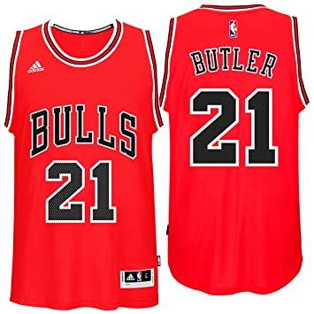 Chicago Bulls #21 Jimmy Butler Red Swingman Jersey