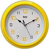 Ajanta Plastic Wall Clock (20.5 cm x 20.5 cm x 3.5 cm, Yellow)