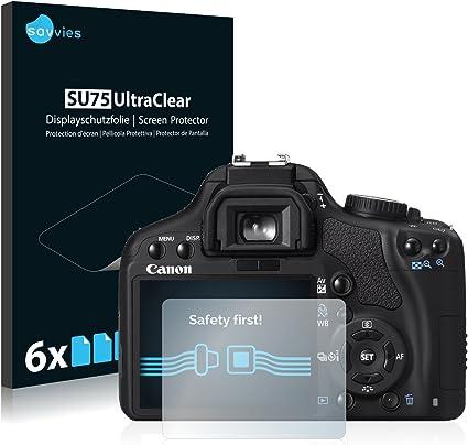 savvies Protector Pantalla Compatible con Canon EOS 450D (6 ...