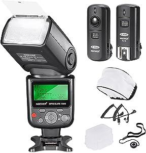 Neewer 750II TTL Flash Kit for Nikon D7200 D7100 D7000 D5500 D5300D5200 D5100 D5000 D3300 D3200 D3100 D3000 D700 D600 D500 D90 D80 D70 D60 D50 Cameras with Wireless Trigger Diffuser Lens Cap Holder