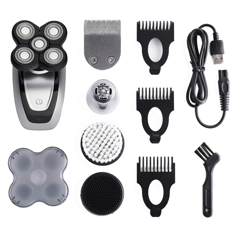 5-in-1 Electric Razor For Men, Cordless Bald Head Shaver 5 in 1 Electric Shaver Kit