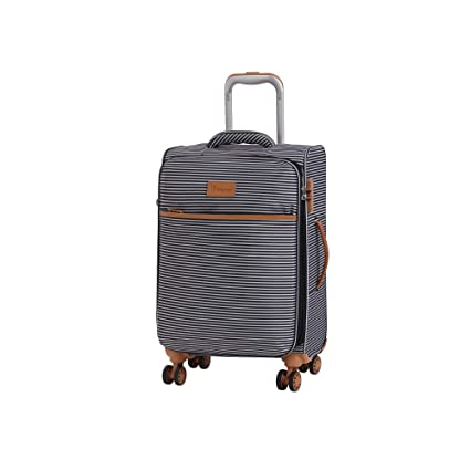 f6281352d it luggage Beach-Stripes 4 Wheel Lightweight Semi Expander Cabin With Tsa  Lock Suitcase, 56 cm, 42 L, Black/ Grey Stripes: Amazon.co.uk: Luggage