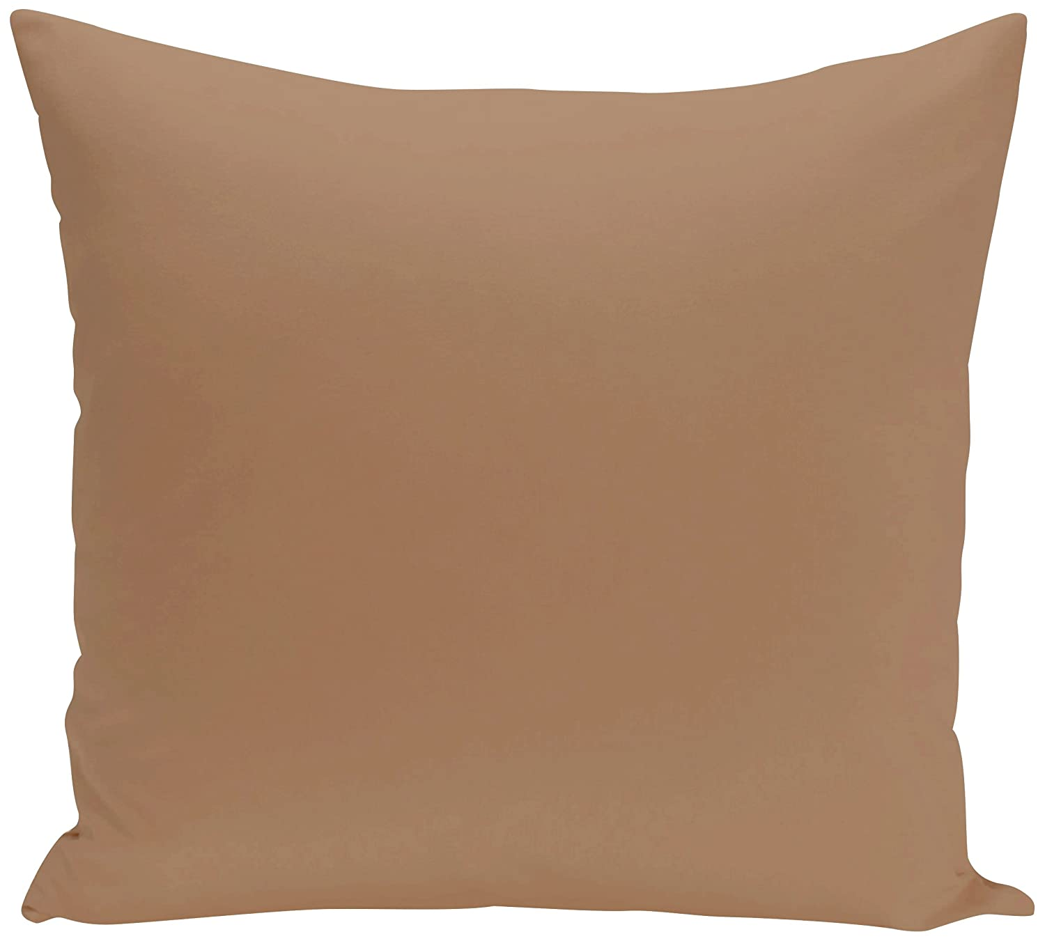 E by design PSOTA8-26 26 x 26-inch Solid Print Pillow Beige//Taupe 26x26 Brown