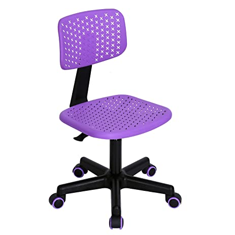 Ergonomical Colorful Computer Desk Chair For Kids Teens Gaming Studying  (Purple)