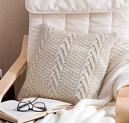 Coussin laine tricot