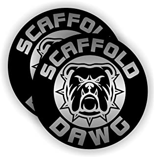 Scaffold Dawg Hard Hat Sticker | Helmet Decal | Label Lunch Tool Box Scaffolder Builder