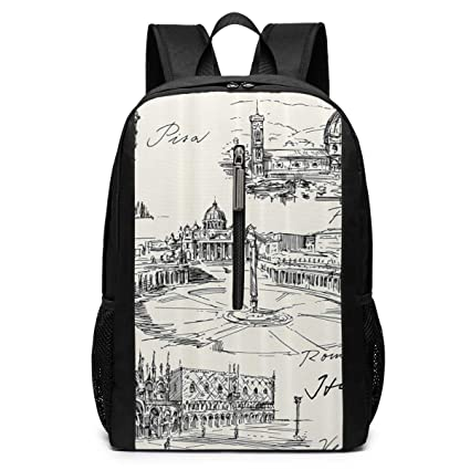 TRFashion Mochila Venice Rome Florence Pisa Laptop Backpack ...