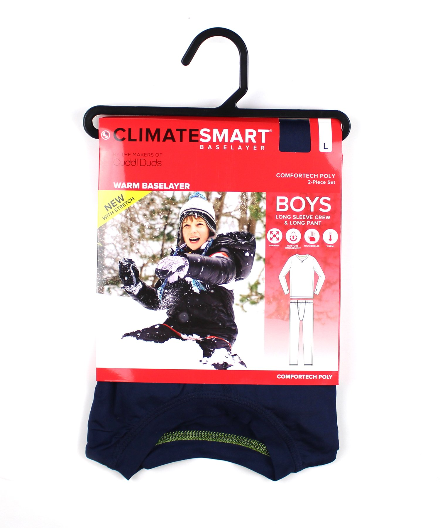 Cuddl Duds Boys Climatesmart Base Layer Thermal Comfortech Set (L 12/14, Navy) by Cuddl Duds Komar