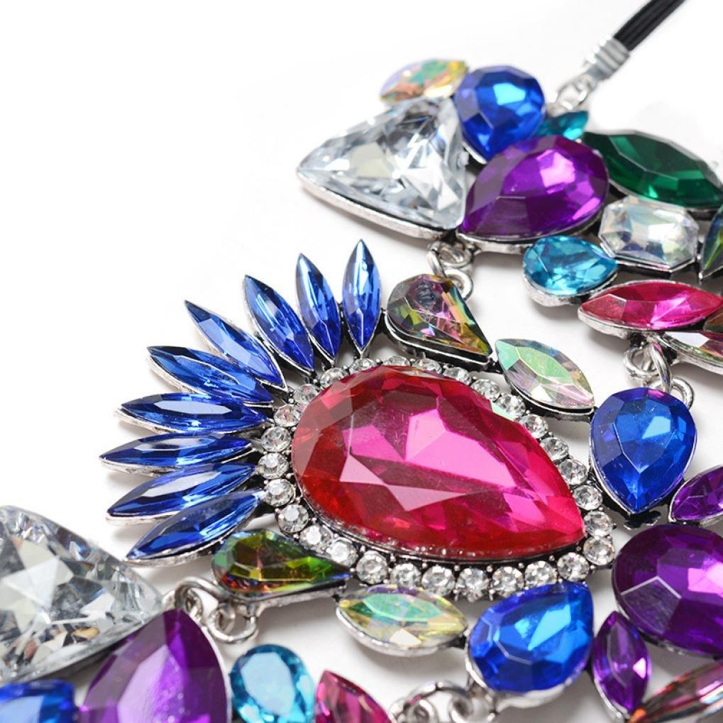 TOPUNDER Crystal Rhinestones Gem Flower Pendant Ankle Barefoot Sandal Foot Jewelry Multicolor by