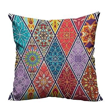 YouXianHome - Funda de Almohada para sofá, diseño de Parches ...
