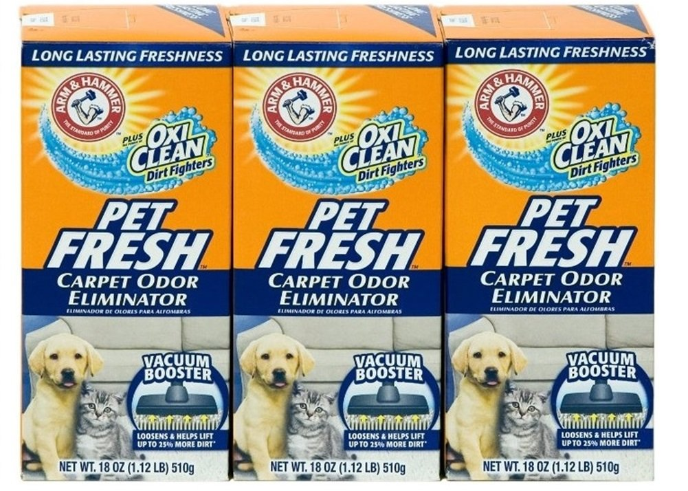 Arm & Hammer Pet Fresh Carpet Odor Eliminator Plus Oxi Clean Dirt Fighters (Pack of 3) by Arm & Hammer