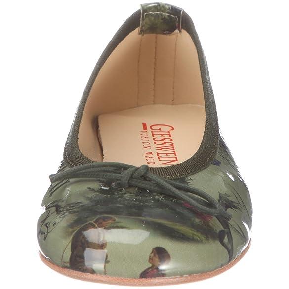 Giesswein Cunewalde 551040059, Damen Ballerinas, grün (olive), EU 36