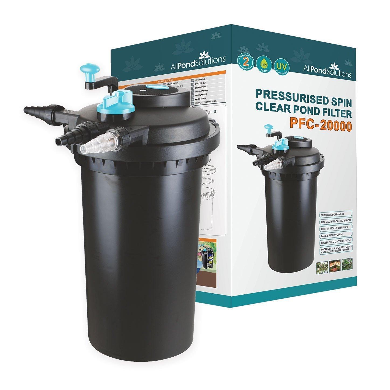 20000 Litre All Pond Solutions Pressurised Koi Fish Pond Filter and UV Steriliser for PFC-20000 Litre