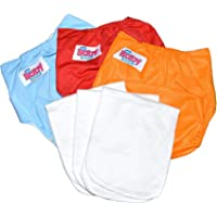 Baby Bucket Washable Cloth Diapers with Inserts Pads, Free Size - Set of 3
