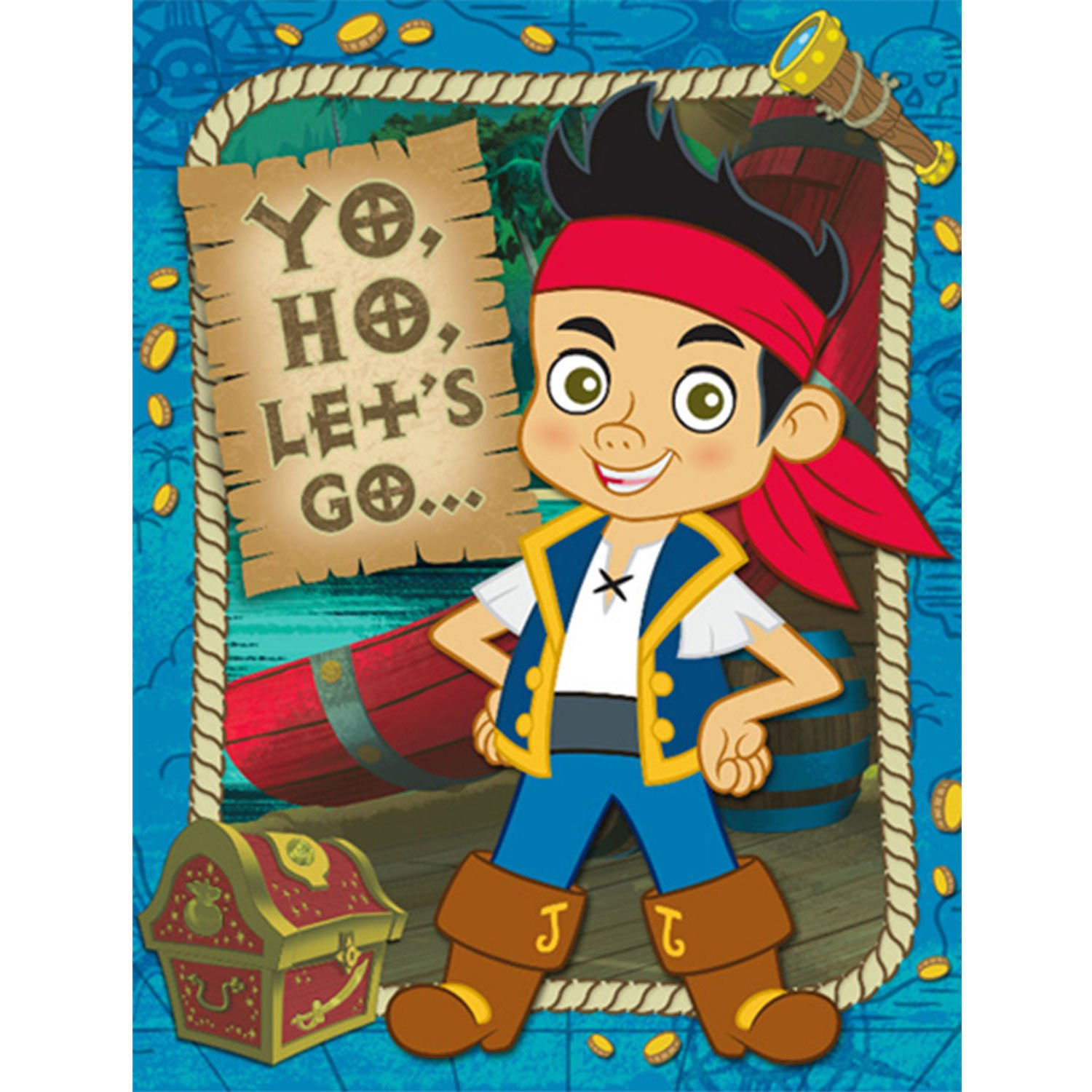 Amazon.com: Jake and the Never Land Pirates Invitation: Toys & Games