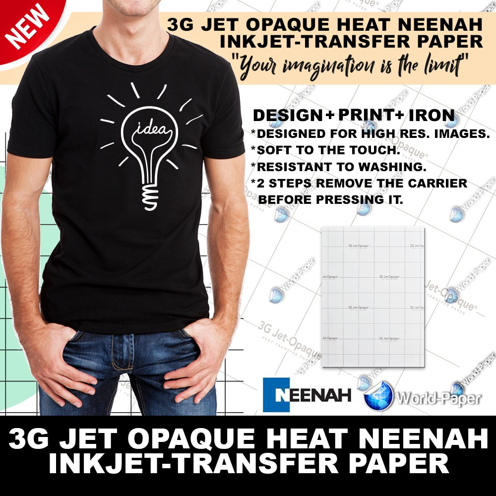 Amazon Neenah 3g Jet Opaque Heat Transfer Paper 85 X 11