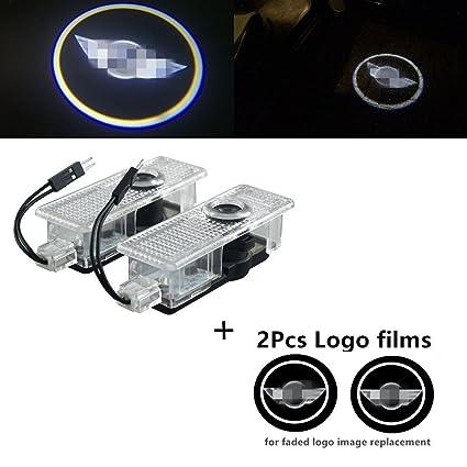 Luz Laser Proyector de logo led para puerta de coche para BMW Mini ...